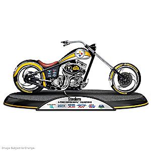Pittsburgh Steelers Super Bowl Champions Chopper Sculpture