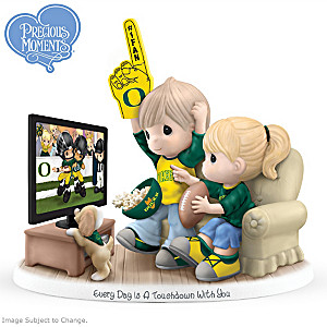 Precious Moments Oregon Ducks Fan Porcelain Figurine