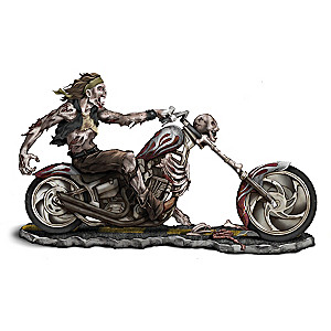 """Dead Man Riding"" Zombie Biker Figurine"
