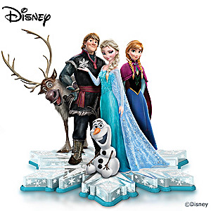 Disney Ultimate FROZEN Sculpture With Swarovski Crystals
