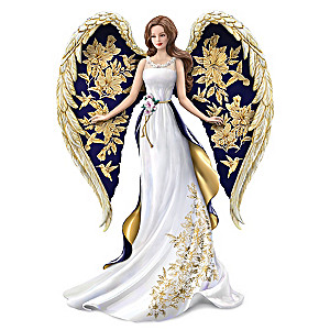 "Lena Liu ""Glorious Praise"" Golden Floral Art Angel Figurine"