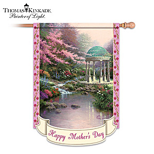 "Thomas Kinkade ""Happy Mother's Day"" Art Flag"