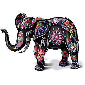 "Blake Jensen ""Reign Of The Monarch"" Porcelain Elephant Figurine"