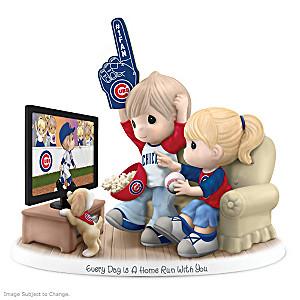 Precious Moments Chicago Cubs Fan Porcelain Figurine