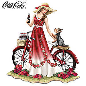 """A Refreshing Promenade By COCA-COLA"" Lady Figurine"