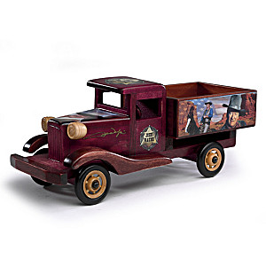 "John Wayne ""The Route Of A Legend"" Wood Truck Sculpture"