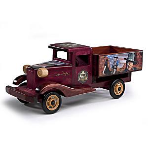 "John Wayne ""The Route Of A Legend"" Wood Truck Sculpture"