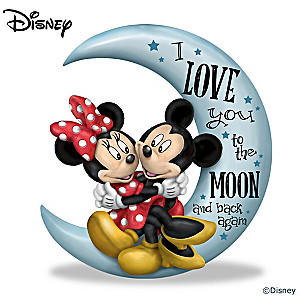 "Mickey Mouse & Minnie Mouse ""Love You To The Moon"" Figurine"