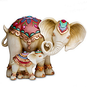 """Trunks Of Love"" Mother And Child Elephant Figurine Set"