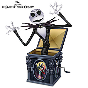 the nightmare before christmas jack in the box jack figurine - Jack From Nightmare Before Christmas
