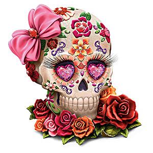 """Margaret Le Van """"Lady Amora"""" Sugar Skull Art Figurine"""