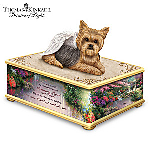 Thomas Kinkade Yorkie Memorial Keepsake Box