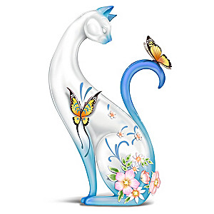 "Lena Liu ""Serene Purr-fection"" Porcelain Cat Figurine"