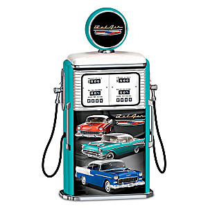Tri-Five Chevrolet Bel Air Illuminated Gas Pump Sculpture