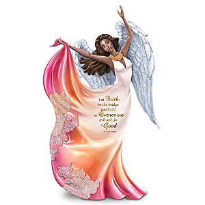 "Maya Angelou ""Let Faith Be The Bridge"" Angel Figurine"