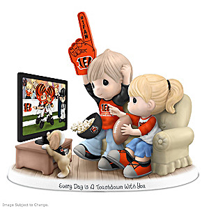 Precious Moments Cincinnati Bengals Fan Porcelain Figurine