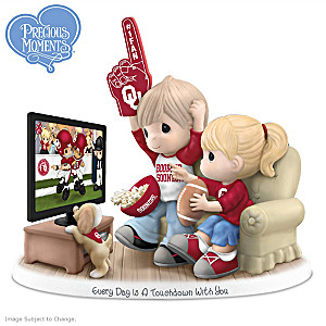 Precious Moments Oklahoma Sooners Fan Porcelain Figurine
