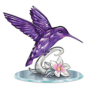 "Lena Liu ""Beauty Of The Amethyst"" Hummingbird Figurine"