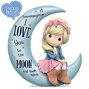 """Granddaughter, I Love You To The Moon And Back"" Figurine"