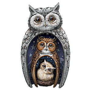 "Blake Jensen ""Eyes Of Wisdom"" Nesting Owls Figurine Set"