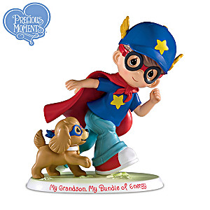 "Precious Moments ""My Grandson, My Bundle Of Energy"" Figurine"