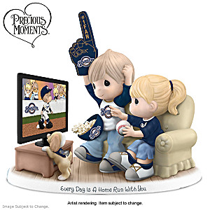 Precious Moments Milwaukee Brewers Fan Porcelain Figurine