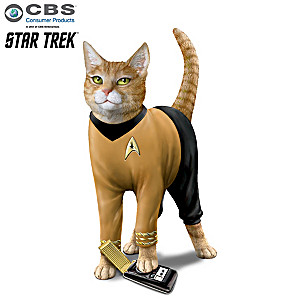 "STAR TREK ""Cat-tain Kirk"" Cat Figurine"