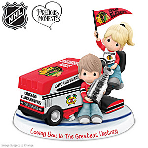 Precious Moments Blackhawks® Couple Figurine