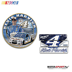 "Kevin Harvick ""Signs Of A Champion"" Wall Decor Set"