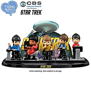 Precious Moments STAR TREK Figurine Set With Display