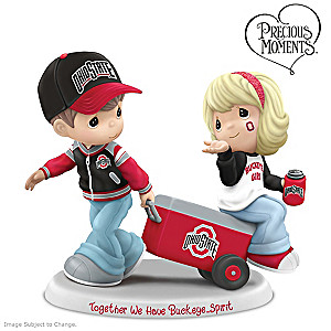 Precious Moments Buckeyes Tailgating Fans Figurine