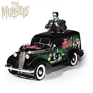 """Riding With The Munsters"" 1:18-Scale Hearse Sculpture"