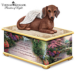 Thomas Kinkade Dachshund Memorial Keepsake Box