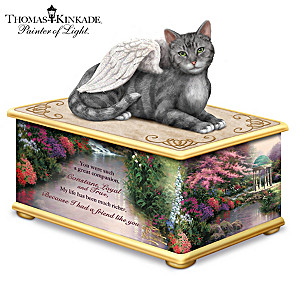 Thomas Kinkade My Forever Friend Cat Memorial Keepsake Box