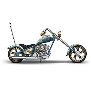 """American Spirit Rider"" Buffalo Nickel Motorcycle Sculpture"
