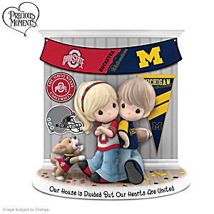 Precious Moments Ohio State/University Of Michigan Figurine