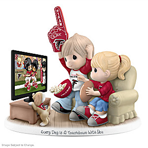 Precious Moments Atlanta Falcons Fan Porcelain Figurine