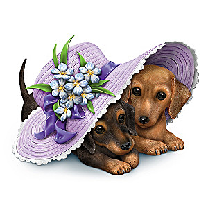 """Love Is Paw-Ever"" Alzheimer's Awareness Dachshunds Figurine"
