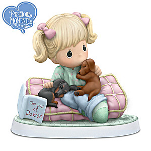 "Precious Moments ""Home Is Where My Dachshunds Are"" Figurine"