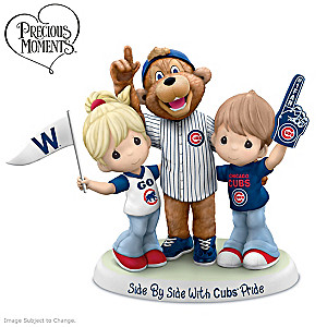 "Precious Moments ""Side By Side With Cubs Pride"" Figurine"