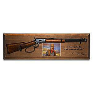 John Wayne 1:1-Scale Diecast Rifle Tribute Wall Decor
