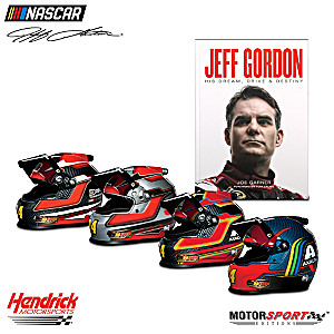 Tribute To Jeff Gordon's Legacy 1:3-Scale Racing Helmet Set