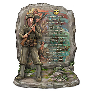 U.S.M.C. Rifleman's Creed Sculpture With James Griffin Art