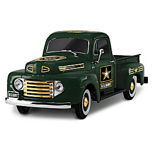 "1:36-Scale ""Class A Cruiser"" Army Ford Truck Sculpture"