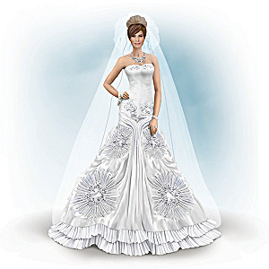 Melania Trump Bridal Figurine With 40 Swarovski Crystals