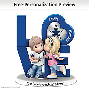 Precious Moments Cowboys Personalized Couple Figurine