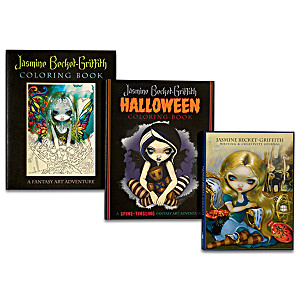Jasmine Becket-Griffith Coloring Books With Art Prints