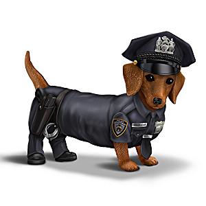 Blake Jensen Dachshund Police Officer Figurine