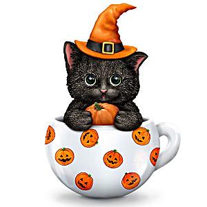 "Kayomi Harai ""Sweet & Spooky"" Halloween Cat Figurine"