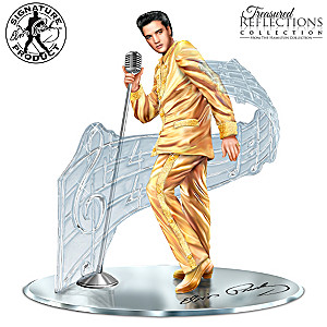 """Treasured Reflections Of Elvis Presley"" Sculpture"
